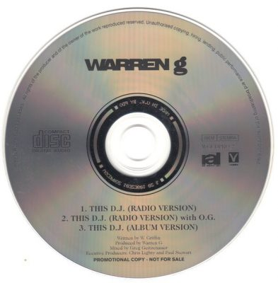 Warren G ‎- This DJ (Promo CDS) (1994) (FLAC + 320 kbps)