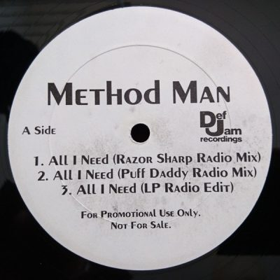Method Man – All I Need (Promo VLS) (1995) (FLAC + 320 kbps)