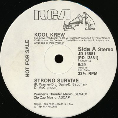 Kool Krew – Strong Survive (VLS) (1984) (FLAC + 320 kbps)
