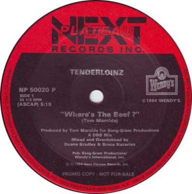 Tenderloinz – Where's The Beef? (VLS) (1984) (FLAC + 320 kbps)