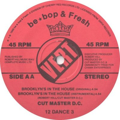 Cutmaster D.C. – Brooklyn's In The House (VLS) (1986) (FLAC + 320 kbps)