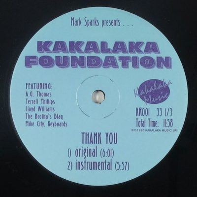 Mark Sparks Presents… Kakalaka Foundation ‎- Thank You (VLS) (1995) (FLAC + 320 kbps)