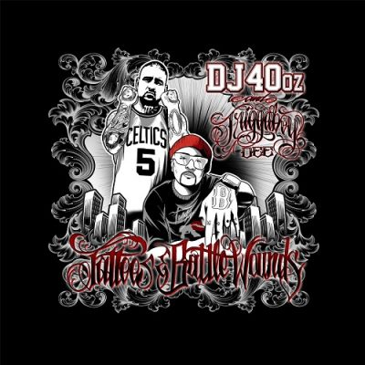 DJ 40oz & Triggaboy Dee – Tattoos & Battle Wounds (WEB) (2017) (320 kbps)