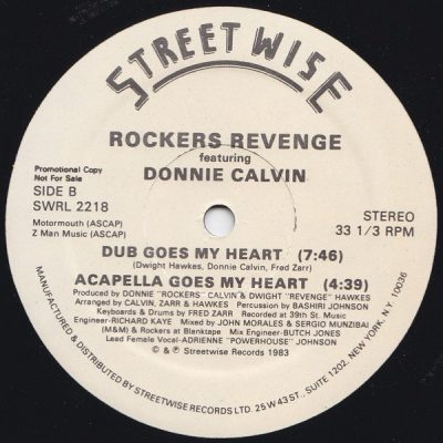 Rockers Revenge Featuring Donnie Calvin – There Goes My Heart (VLS) (1983) (FLAC + 320 kbps)