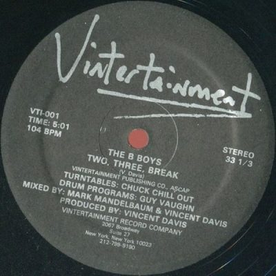 The B Boys – Two, Three, Break (VLS) (1983) (FLAC + 320 kbps)