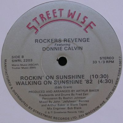 Rockers Revenge Featuring Donnie Calvin – Walking On Sunshine '82 (VLS) (1982) (FLAC + 320 kbps)