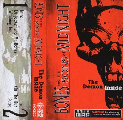 Bones And The Sons Of Midnight – The Demon Inside EP (25 Years Of Krazees Reissue) (Cassette) (1993-2018) (FLAC + 320 kbps)