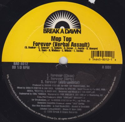 Mop Top – Forever (Verbal Assault) / I'm Alright (VLS) (1996) (FLAC + 320 kbps)