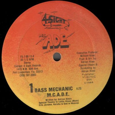 MC Ade – Bass Mechanic (VLS) (1986) (FLAC + 320 kbps)