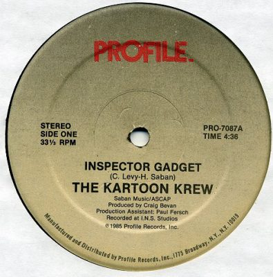 The Kartoon Krew – Inspector Gadget (VLS) (1985) (FLAC + 320 kbps)
