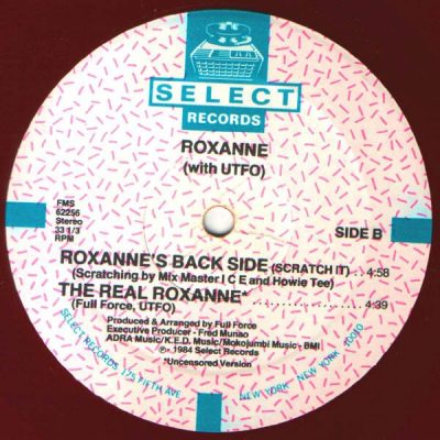 Roxanne With UTFO – The Real Roxanne / Roxanne's Back Side (VLS) (1984) (FLAC + 320 kbps)