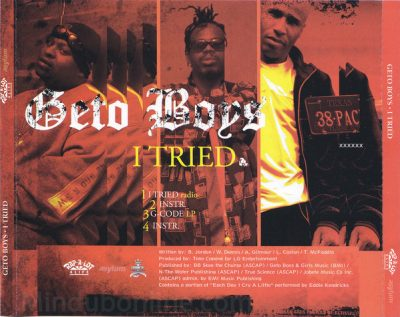 Geto Boys – I Tried (Promo CDS) (2004) (320 kbps)
