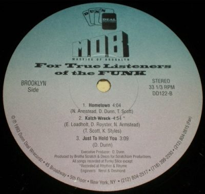 M.O.B. (Massive Of Brooklyn) – For True Listeners Of The Funk EP (Vinyl) (1993) (320 kbps)