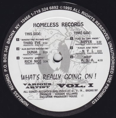 VA – What's Really Going On! Vol. 1 EP (Vinyl) (1995) (FLAC + 320 kbps)