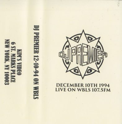 DJ Premier – December 10th 1994 Live On WBLS 107.5 FM (Cassette) (1994) (FLAC + 320 kbps)