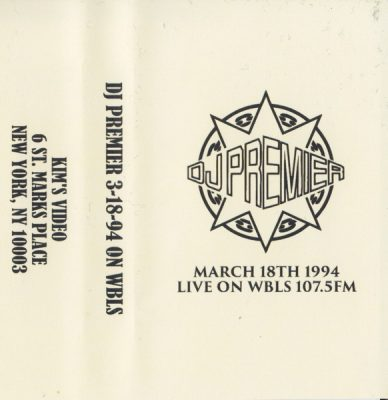 DJ Premier – March 18th 1994 Live On WBLS 107.5 FM (Cassette) (1994) (FLAC + 320 kbps)