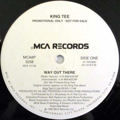 King Tee – Way Out There (Promo VLS) (1995) (FLAC + 320 kbps)