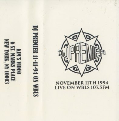 DJ Premier – November 11th 1994 Live On WBLS 107.5 FM (Cassette) (1994) (FLAC + 320 kbps)