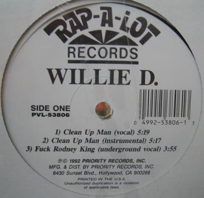 Willie D – Clean Up Man (VLS) (1992) (FLAC + 320 kbps)