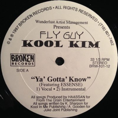 Fly Guy Kool Kim – Ya' Gotta' Know (VLS) (1997) (320 kbps)