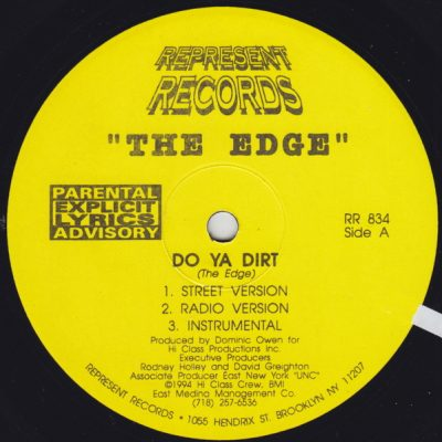The Edge – Do Ya Dirt / Who's Dat Chick (VLS) (1994) (FLAC + 320 kbps)