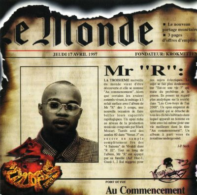 Mr R – Au Commencement (CD) (1997) (FLAC + 320 kbps)