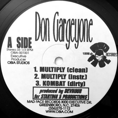 Don Gargeyone – Multiply EP (Vinyl) (1998) (320 kbps)