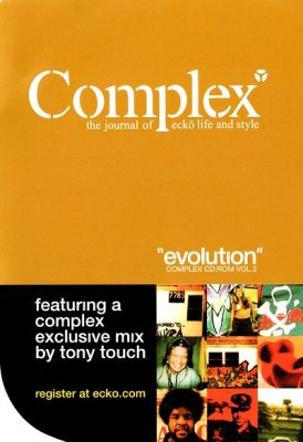 """Tony Touch – Complex CD-ROM Vol. 2 """"Evolution"""" (2001) (FLAC + 320 kbps)"""