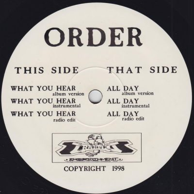 Order – What You Hear / All Day (VLS) (1998) (FLAC + 320 kbps)