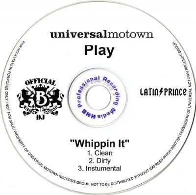 Play – Whippin It (Promo CDS) (2003) (FLAC + 320 kbps)