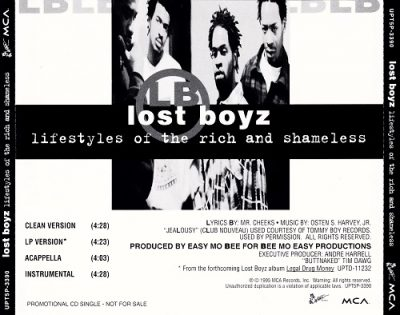 Lost Boyz – Lifestyles Of The Rich And Shameless (Promo CDS) (1995) (FLAC + 320 kbps)